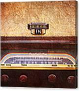 Westinghouse Fm Rainbow Tone Radio Canvas Print
