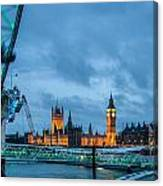 Westminster And The London Eye Canvas Print