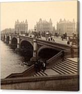 Westminster Bridge - London - C 1887 Canvas Print
