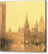 Westminster Houses Of Parliament Canvas Print