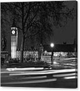 Westminster Night Traffic  Canvas Print