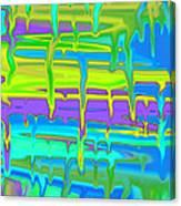 Wet Drippy Paint Canvas Print