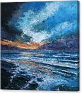 Wet Sand Canvas Print