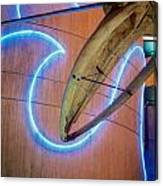 Whale Into Blue Wave Canvas Print