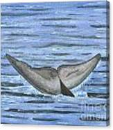 Whale's Tail Canvas Print