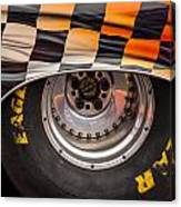 Wheel And Chequered Flag Canvas Print