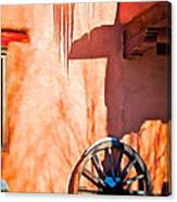 Wheel And Ice Canvas Print