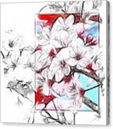 When The Almond Trees Are In Blossom  Canvas Print