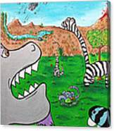 When Zebrasaurs Walked The Earth Canvas Print