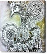 Whimsypunk Peacock Canvas Print