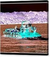 Whirlpool Jet Boat Niagara Falls Inverted Canvas Print