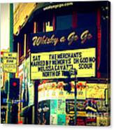Whisky A Go Go Bar On Sunset Boulevard Canvas Print