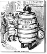 Whisky Ring Cartoon, 1875 Canvas Print
