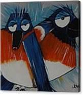 Whistling Bluebirds Canvas Print