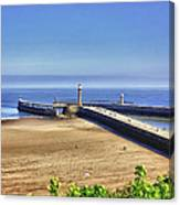 Whitby Harbour View Canvas Print