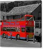 Whitby Tour Bus Canvas Print