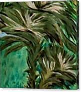 White Bird Of Paradise Tree Canvas Print