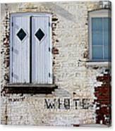 White Brick Canvas Print