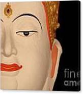 White Buddha Face Canvas Print