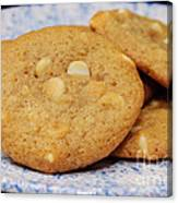 White Chocolate Chip Cookies Canvas Print