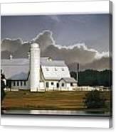 White Farm Canvas Print