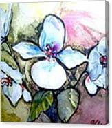 White Floral Group Canvas Print