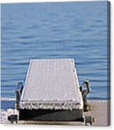 White Frost Diving Board Canvas Print