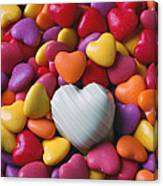 White Heart Candy Canvas Print