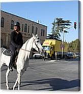 White Horse In Bethlehem Street Canvas Print