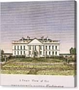 White House, D.c., 1820 Canvas Print