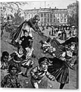 White House: Easter, 1887 Canvas Print