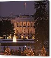 White House, From Elipse At Christmas Canvas Print
