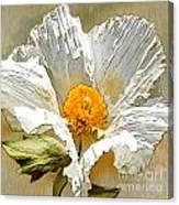 White Paper Flower Canvas Print