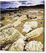 White Park Bay, County Antrim, Ireland Canvas Print