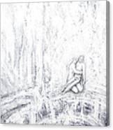 White Pieta Canvas Print