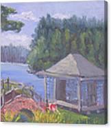 White Pine Camp Tea House Canvas Print