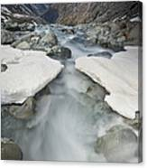 White River Rapids Arthurs Pass Np Canvas Print