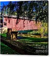 White Rock Bridge Canvas Print