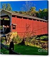 White Rock Forge Covered Bridge Canvas Print