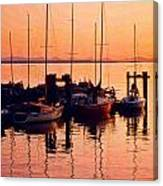 White Rock Sailboats Hdr Canvas Print