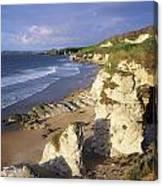 White Rocks Beach, Between Portrush & Canvas Print