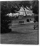 White Roe Lake Hotel - Livingston Manor Ny - Lawn To Lake Canvas Print
