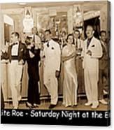 White Roe Lake Hotel-livingston Manor-saturday Night At The Bar Canvas Print