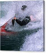 White Water Kayaker Canvas Print