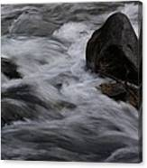 White Water Rushes Over Rocks Canvas Print