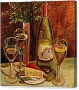 White Wine-dreams Canvas Print