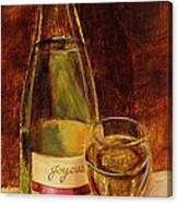 White Wine-joyous Canvas Print