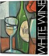 White Wine Poster Canvas Print
