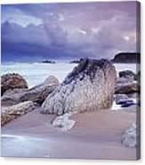 Whitepark Bay, Co Antrim, Ireland Rocks Canvas Print