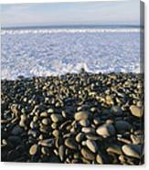 Whitewater From Crashing Waves Washes Canvas Print